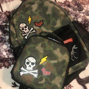 Camouflage boys book bag